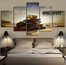 5 Piece HD Pictures Wreckfest Game Poster Paintings Canvas Art Decorative for Background Wall Decor