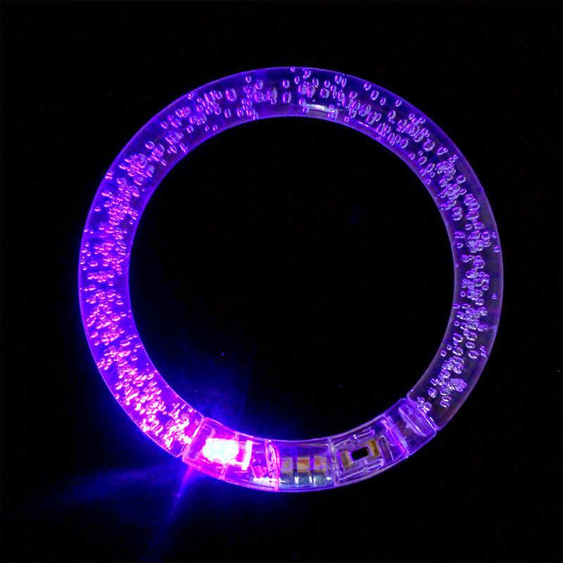 LED Flashing Bracelet Light Up Acrylic Wristband Party Bar Chiristmas luminous bracelet luminous toys for children