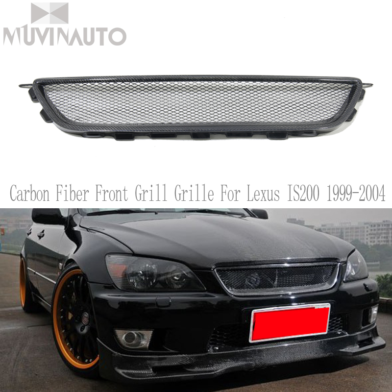 IS200 Carbon Fiber Front Grill Grille For Lexus IS200 1999-2004 Auto Car StylingIS200 Carbon Fiber Front Grill Grille For Lexus IS200 1999-2004 Auto Car Styling