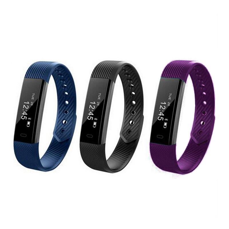 Lembrar com Atividade Alarme do Monitor de Fitness Vibração para Ios Pulseiras Inteligente Bluetooth Telefone Rastreador Esportes Relógio Android Id115