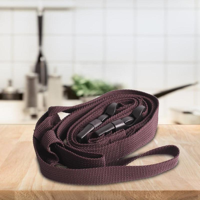 Portable Strapping Tape for Outdoor Clothing with Plastic Buckle (Brown) Travel Hiking Camping Storage Strapping Supplies