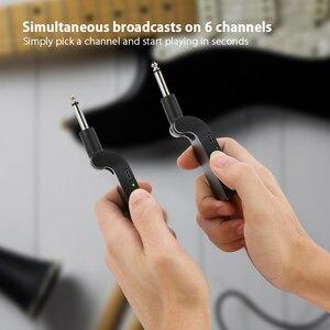 Image 4 - Ammoon 2.4G 무선 기타 송신기 오디오 6 채널 일렉트릭 기타베이스 용 기타 무선 송신기 수신기
