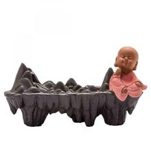 Mountains Ceramic Backflow Incense Burner Little Monk  Smoke Waterfall Stick Holder Crafts Creative Home Decor