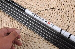 Image 5 - THEKUAI 3,6 м 6,3 м поток Удочка из высокоуглеродистого материала Удочка портативный ультра легкий полюс Супер жесткий 28 тональный Карп телескопическая удочка