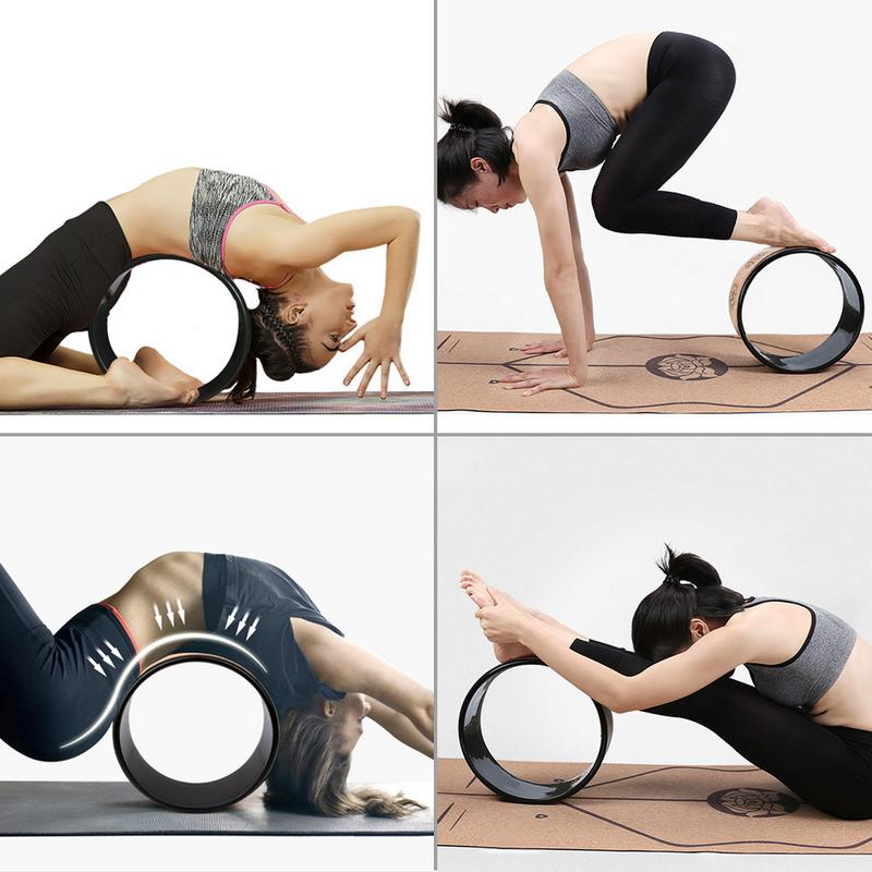 Yoga Wheel Comfortable Perfect Accessory Sturdy Durable Fitness Yoga Accessory For Stretching And Improving Backbend New