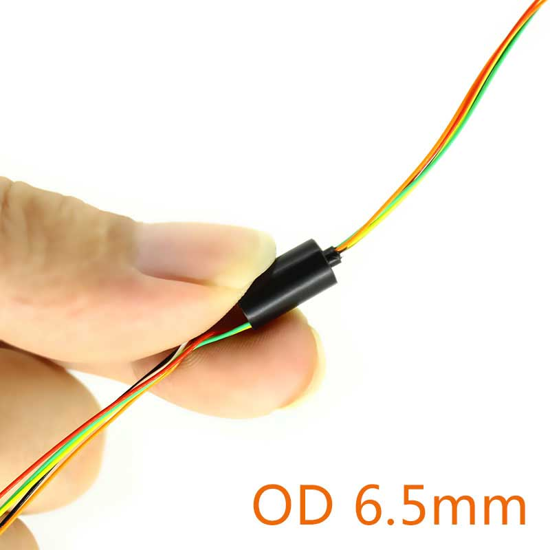 Mini Slipring 4/6/8/12 Wires 1A Diameter 6.5mm Capsule Slip Rings Intelligent Handheld Gimbal Rotary Joint Collecting Rings