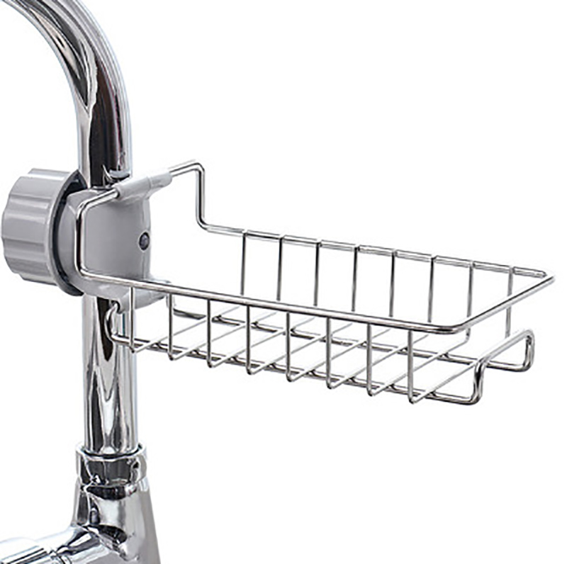 Adjustable Faucet Drainage Shelf Stainless Steel Kitchen Sundries Storage Rack For Bathroom Soap Rag And Sponge Organize HoldeAdjustable Faucet Drainage Shelf Stainless Steel Kitchen Sundries Storage Rack For Bathroom Soap Rag And Sponge Organize Holde