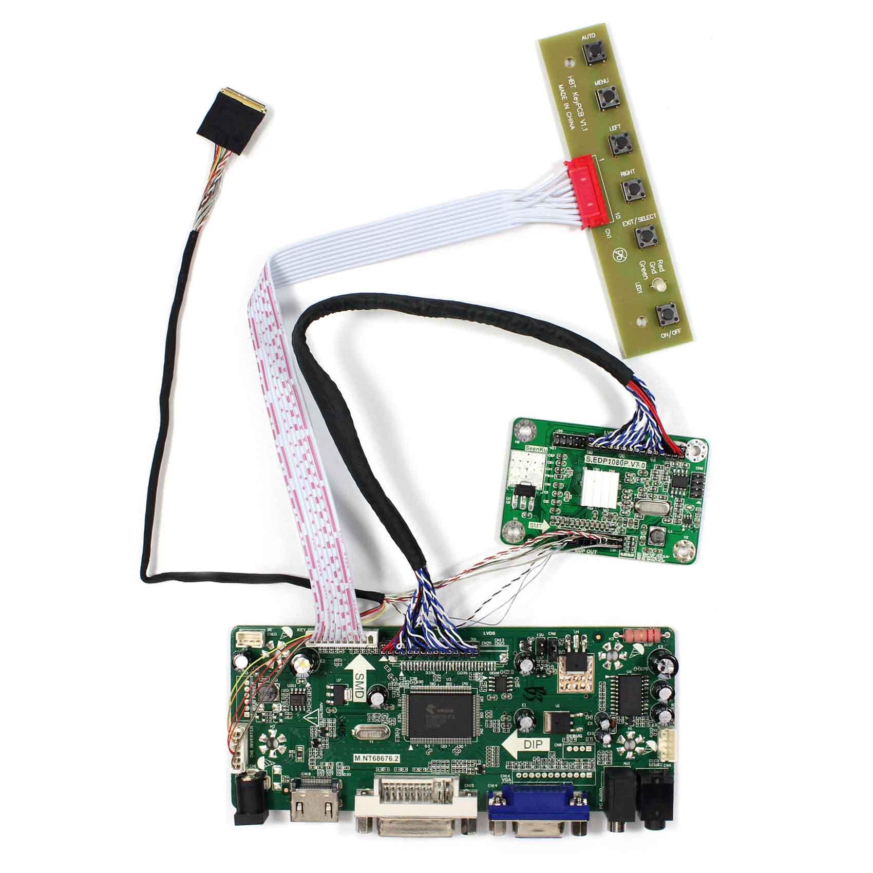 For NV156FHM N41 N156HGE EA1 B156HAN01 2 15 6inch 1920x1080 eDP LCD Screen HDMI VGA DVI