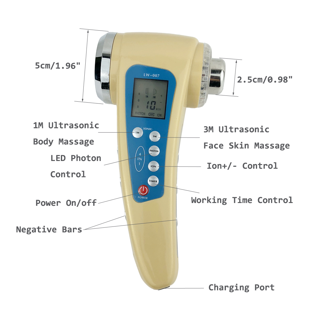 Face และ Body นวด 1 เมตร Ultrasound Cavitation Body Slimming Massager Photon Therapy 3 เมตร Ultrasonic Facial อุปกรณ์ Skin Care เครื่องมือ-ใน เครื่องมือดูแลผิวหน้า จาก ความงามและสุขภาพ บน   3