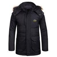 Модные Для мужчин лыжная куртка Термальность утка вниз куртка Открытый Спорт Кемпинг Альпинизм Пеший Туризм ветровка качественная брендов