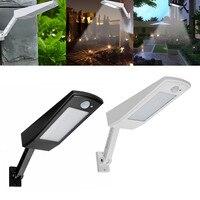 Solar Powered LED Light Motion Sensor Outdoor Garden Wall Street Lamp 48pcs LED IP65 Waterproof 5 Modes Human Sensing Function