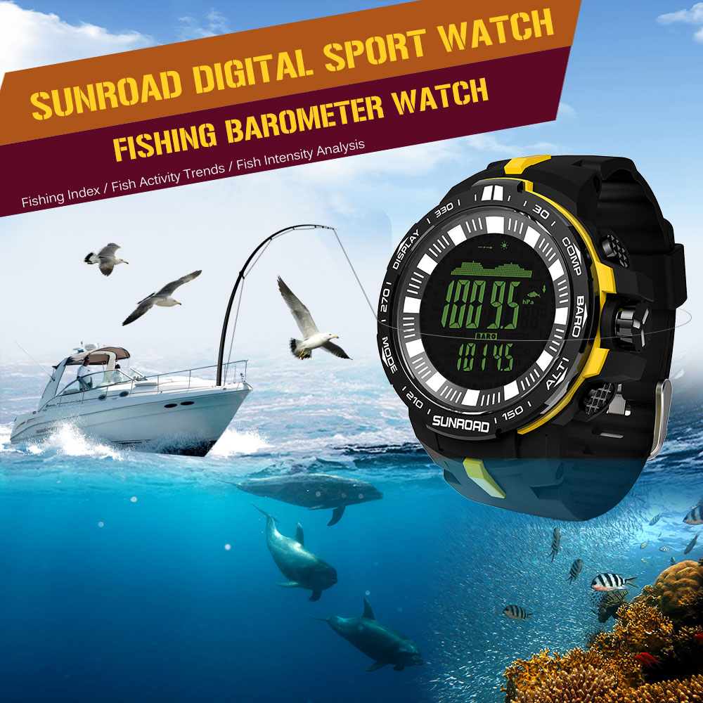 Outdoor Sport Watch Men 5ATM Water Resistant Daigital Watches Altimeter Compass Fishing Barometer Sports Watches for Men