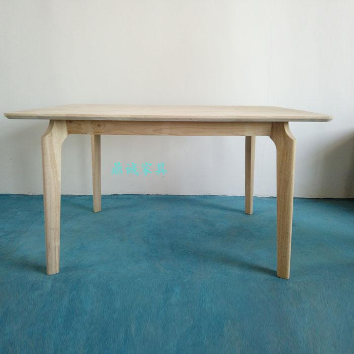 dining room tables on sale | Nordic modern Rubber wood table, no paint rectangular ...