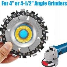4 인치 14 치아 그라인더 체인 디스크 커팅 디스크 16mm Arbor 목공 조각 디스크 100/115 앵글 그라인더/원형 톱