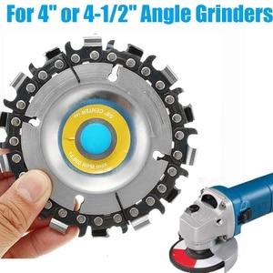 Image 1 - 4 אינץ 14 שיניים מטחנות שרשרת דיסק חיתוך דיסק 16mm ארבור נגרות גילוף דיסק עבור 100/115 זווית מטחנות/מסור עגול