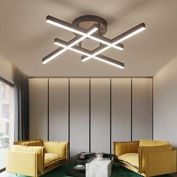 New Design Brown Modern ceiling lights LED livingroom bedroom plafoniera led ceiling lamp Novelty lamparas de techo fixtures
