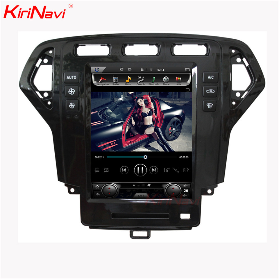 KiriNavi 10.4 ''Android 8.1 autoradio pour Ford Mondeo voiture Dvd lecteur multimédia Android GPS Navigation 2007-2010 Auto Radio WIFI