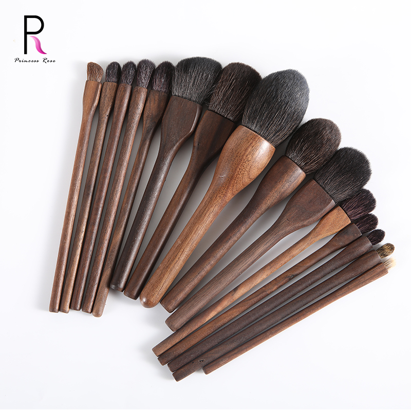 Princess Rose High Quality Single Brush Goat Hair Walnut Handle Soft Eye shadow Foundation Brushes Profession