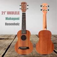 Zebra 21 inch 4 Strings Classic Mahogany Ukulele Uke 15 Frets Rosewood Fingerboard Wood Guitar Stringed Musical Instruments Gift