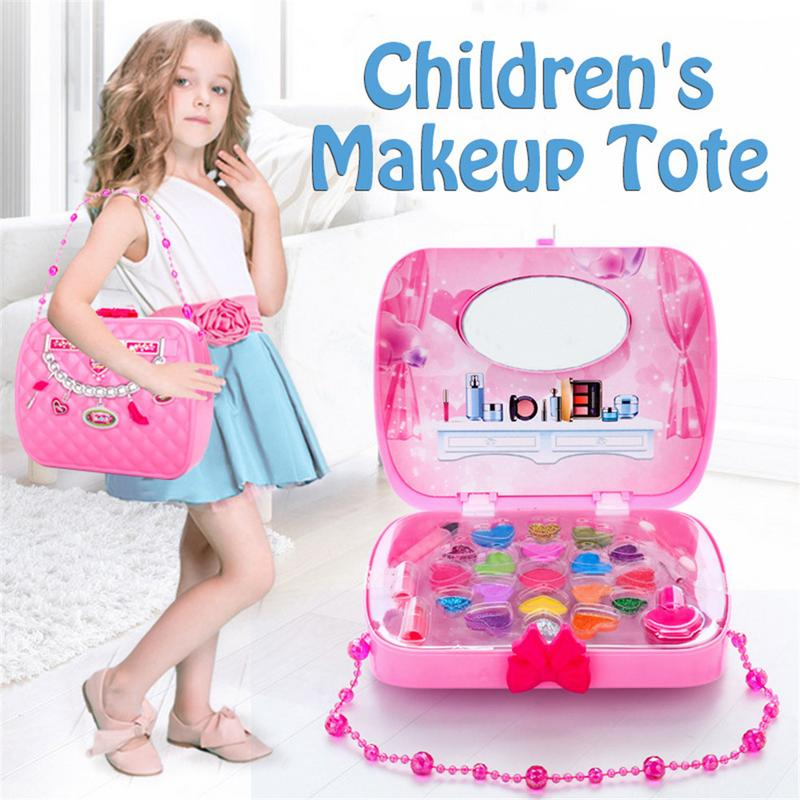 Girls Make Up Set Toys Pretend Play Simulation Cosmetic Bag Beauty Hair Salon Toy Makeup Tools Kit Children Pretend Play Toys guidecraft usa pretend