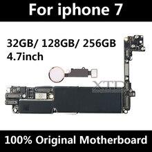 Для iphone 7 платы оригинальный разблокировать телефон материнской платы с Touch ID материнская плата для iphone 7 материнскую плату 32 ГБ/128 ГБ/256 г