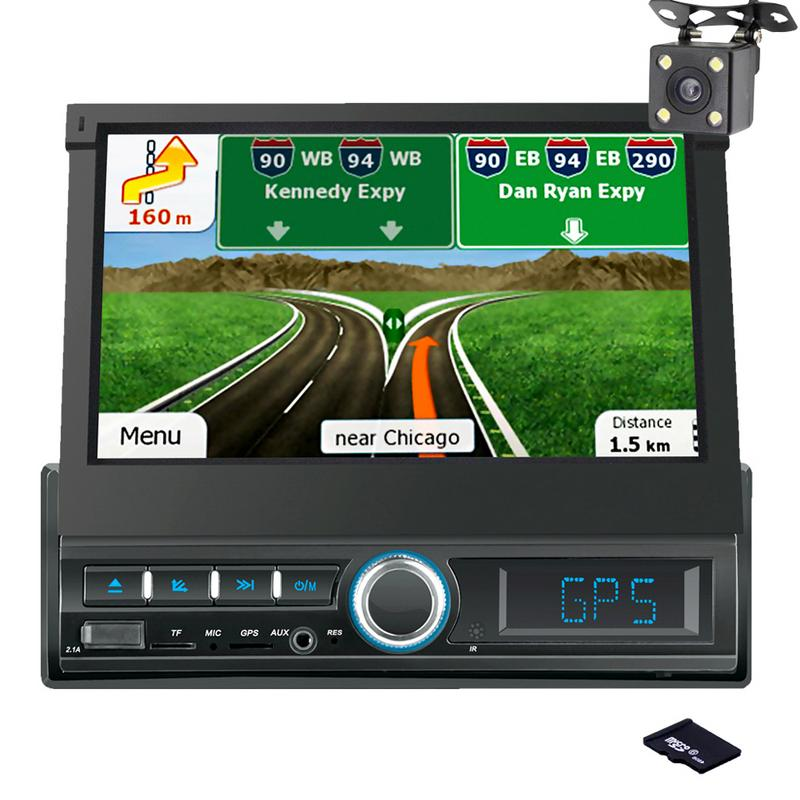 Car MP5 Player Bluetooth Handsfree HD Digital 7  Intrekbare GPS Navigatie Retractable Audio Car Touch Screen Stereo MP5 PlayerCar MP5 Player Bluetooth Handsfree HD Digital 7  Intrekbare GPS Navigatie Retractable Audio Car Touch Screen Stereo MP5 Player
