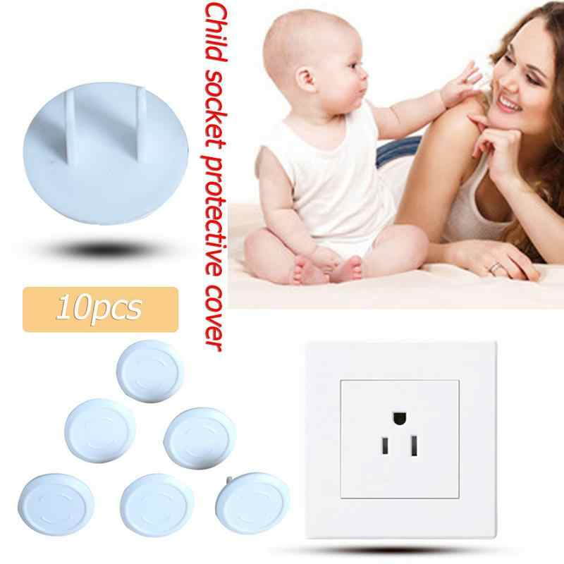 10PCS Children Power Socket Electrical Outlet Baby Safety Guard Protection Anti Electric Shock Plugs Protector Cover