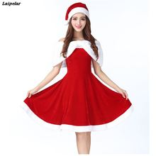 Female Lovely Santa Claus Costume Christmas Dress Cosplay Woman Fancy Gown Halloween Adult Style