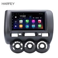 Harfey 2din 7 сенсорный экран автомобильный мультимедийный плеер Android 8,1 DVR wifi радио gps навигатор для 2002 2008 HONDA Jazz (Руководство AC, RHD)