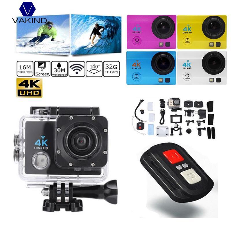 2.0 inch WiFi 1080P USB2.0 4K Ultra HD Action Camera 30m Waterproof 140 Degree L