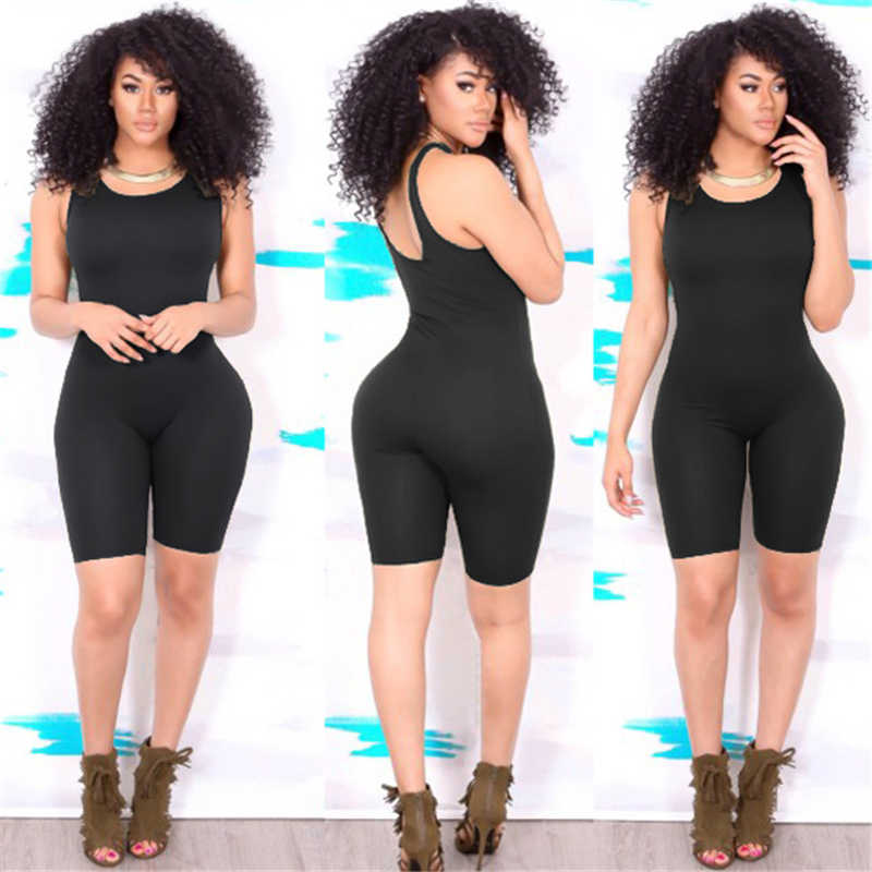hirigin 2018 Sexy Women Sports Jumpuit Summer Sleeveless Bodycon Romper Jumpsuit Playsuit Short Pants Tracksuit Gym Fitness
