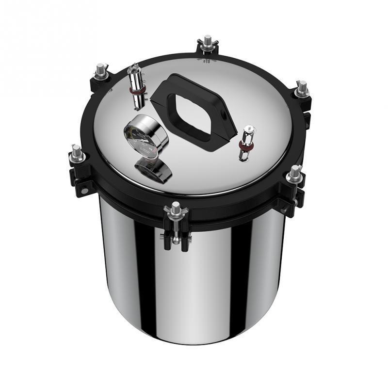 18L CN Plug 220V Stainless Steel Dual Heating Pressure Steam Autoclave Sterilizer Equipment XFS Hot