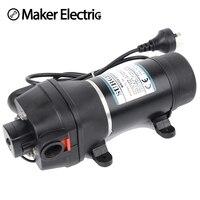 FL 32 220v ac water pump self priming diaphragm pump mini Submersible pump automatic pressure switch 20m lift
