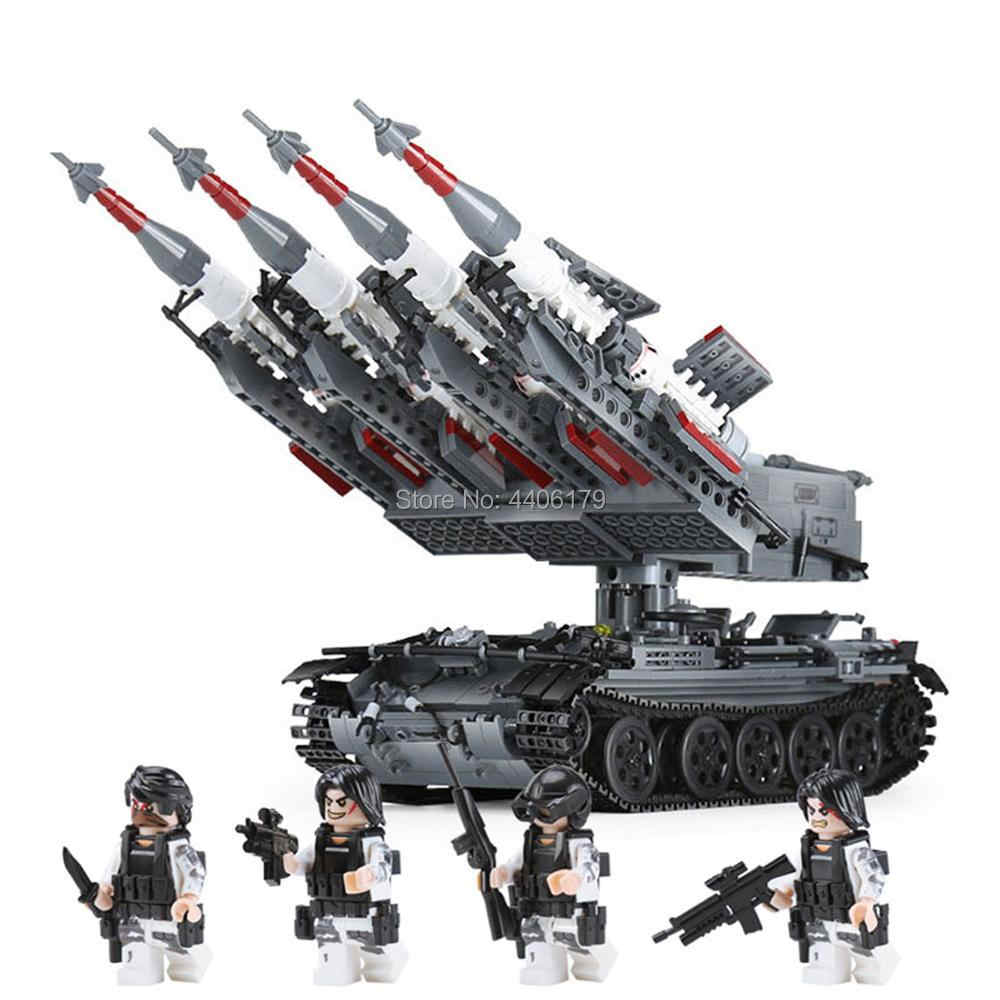 hot LegoINGlys military ww2 Soviet army SA-3 missile T-55 tank war MOC Building Blocks model mini weapon figures brick toys gift