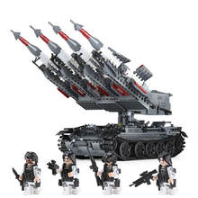 hot LegoINGlys military ww2 Soviet army SA-3 missile T-55 tank war MOC Building Blocks model mini weapon figures brick toys gift(China)