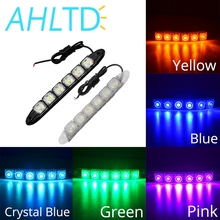 DRL 6 LED Car Auto Decorative Flexible Daytime Running Light Waterproof High Power Chips DC 12V Car LED Strip Light Car Styling 12w per set high power car led daytime running light for bmw e70 x5 suv 2007 2009 led drl day light 12v waterproof drl kits