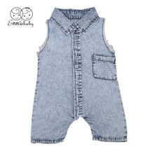 2018 Brand Hot Newborn Sleeveless Jean Fashion Baby Bodysuit Romper Infant Boy Girl Jumpsuit Clothes Outfit 0-24M(China)