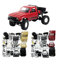 WPL Radio Controlled Cars Off Road RC Car Parts 1:16 RC Crawler Military Truck Body Assemble Kit Electric Car Conversion Kit^