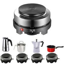 500 w 미니 전기 히터 스토브 핫 쿠커 플레이트 우유 물 커피 가열로 주방 기기 eu 플러그
