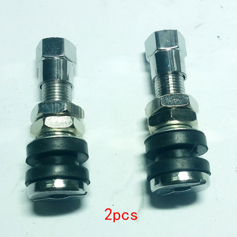 10pcs TR161  Bolt-in Tire Valve Stems With Dust Caps Stainless Steel Car Tubeless Wheel Tire Valve Stems Cap Hex Car Accessories