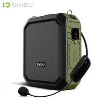SHIDU مكبر صوت لاسلكي محمول ، 18 واط ، بلوتوث ، مقاوم للماء, مع ميكروفون UHF ، دعم المعلم ، قرص AUX TF USB