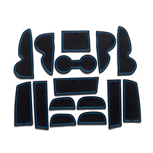 Dongzhen Car Styling For Hyundai Ix35 2009-2012 Accessories Door Groove Mat Cup Stickers Pad Decoration 15Pcs