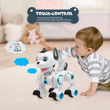 RC Robots K10 Intelligent Dog Remote Control Dogs Programmable Touch-sense Music Song Toys for Children(China)