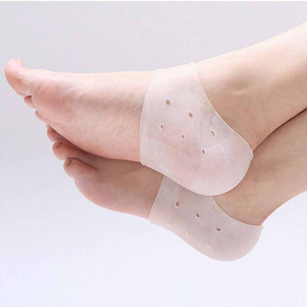 1PC Hot Sale New Feet Care Socks Silicone Moisturizing Gel Heel Socks with Hole Cracked Foot Skin Care Protectors