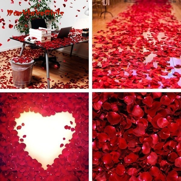 1000pcs Red Colors Silk Flower Rose Petals Festival Wedding Party Valentine's Day Decorations