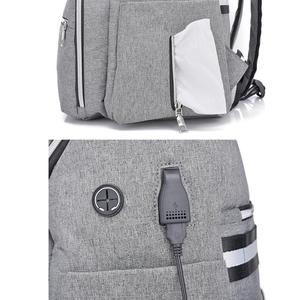 Image 5 - 防水ミイラおむつバッグファッションおむつバッグ大容量ベビーケア看護バッグ母多機能バックパック