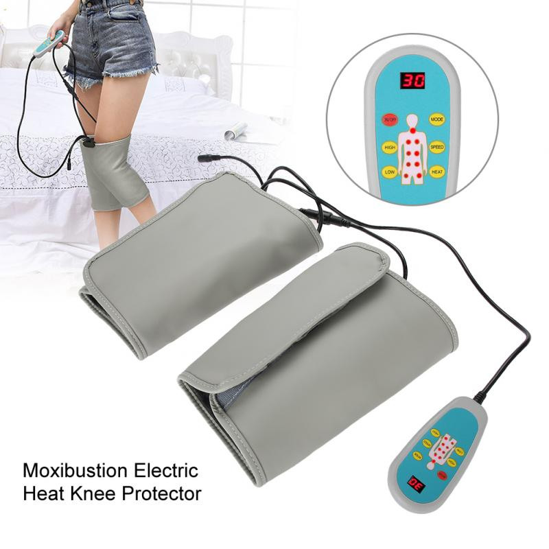 110 240V Electric Heating Knee Pad Infrared Vibration Brace Massage Therapy Leg Pain Relief Massager Knee