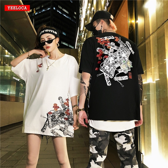 2019 Summer Summer New Maple Leaf Scroll Print Short Sleeve Shirt Chinese Style Couples Men and Women Casual Sports T-Shirt