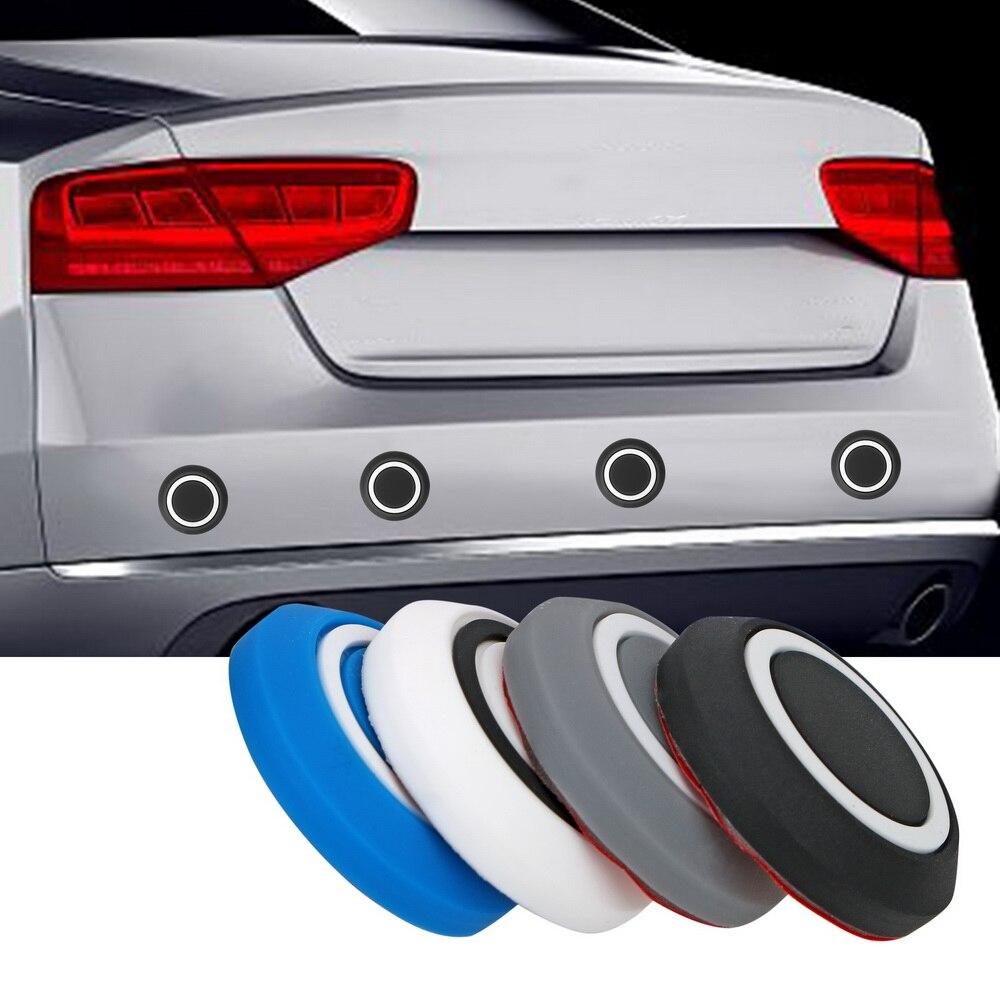 Leepee 10 unidades/pacote borda da porta guarnição guarda canto pára-choques protetor redondo etiqueta protetora carro anti-colisão anti-risco