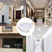 2019 Motion Sensor LED Light Auto Switch Ceiling Lamp Night Light Motion Detector Recessed Downlight Daylight Hallway Basement(China)